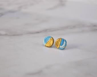 Gold Beach Stud Earrings