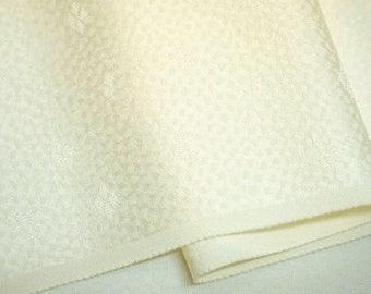 Undyed Vintage Japanese Tango chirimen silk kimono fabric
