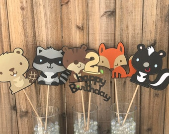 Woodland Animals Centerpieces, set of 6