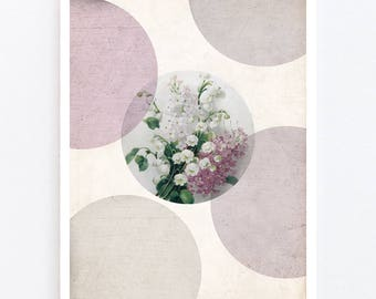 Flower greeting card for birthdays, weddings, mother's day, valentine's day etc.