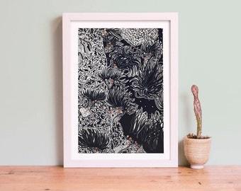 Invertebrate Series Sea Anemone Art Giclee Print