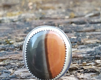 Polychrome Jasper Ring - Coffee Bean Ring