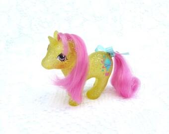 Vintage My Little Pony Baby Sparkle Pony Unicorn Gusty