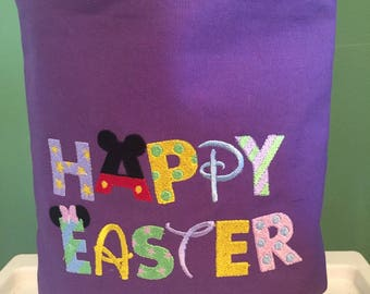 Easter Egg Bag with Disney inspired lettering