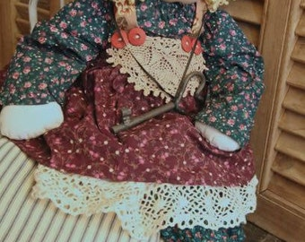 "Little Souls Doll OOAK Signed by Gretchen Wilson 1995 ""Alice"" 24"""