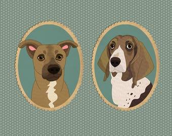 Custom pet portraits Dog portraits Pet Portrait Illustration Pet portraits Pet memorial Dog or Cat Portraits