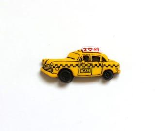 Taxi- Yellow Cab- New York City- NYC Taxi- Tie Tack or Lapel Pin- Decorative Pin
