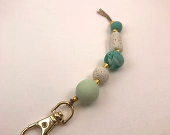 Beach Babe Beaded Keychain | Unique Handmade Jewelry