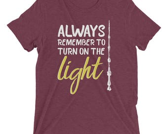 Harry Potter Inspired T-Shirt – Albus Dumbledore Quote: Happiness can be found even in the darkest of times... | Harry Potter Tee Shirt