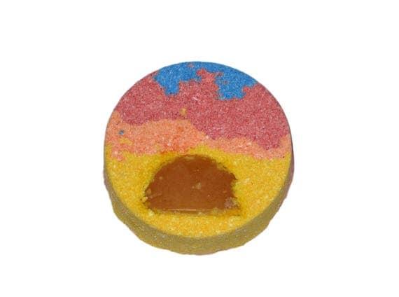 SUNRISE Bath Bomb - Bath Fizzer with Lemon Sun Soap, Citrus Essential Oils & Juices - Vegan / Bath Bomb / Energize / Wakeup / Sun / Turmeric