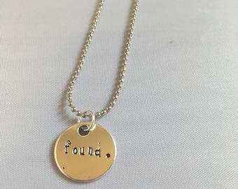 FOUND - You will be found necklace Dear Evan Hansen musical dear evan hansen broadway jewelry Theater lover gift