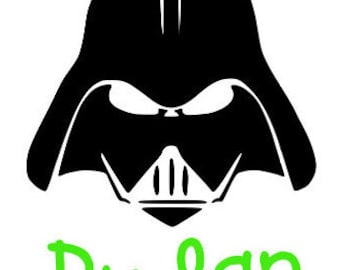 Star Wars Darth Vader, Darth Vader Decal, Star Wars Decal, Personalized, Monogram, Car Decal, Laptop Decal,  Yeti Cup Decal