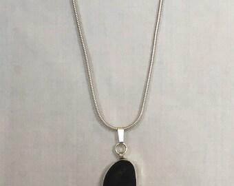 Sea Glass Silver Necklace