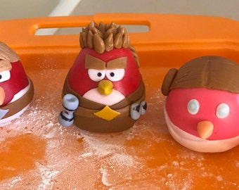 Angry birds Star Wars fondant cake toppers