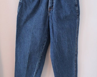 """80s Chic High Waisted Jeans 27"""" Waist - Size 8P - Cropped Jeans - Made in USA"""