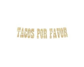 Tacos Por Favor Banner | fiesta banner, cinco de mayo banner, fiesta, 5 de mayo, tacos, tequila, patron, guacamole
