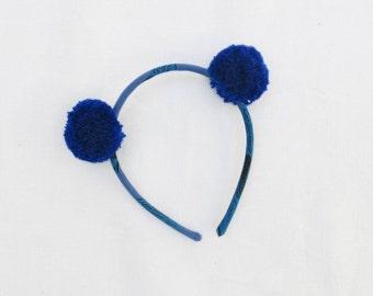 Wow x Little pass - batik Azul blue headband