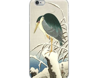 Japanese bird iPhone case, Asian woodblock print, great for bird lovers, nature lovers, and wildlife lovers!