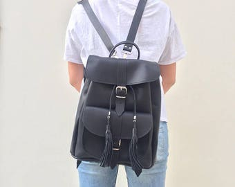Leather Backpack Women, College Backpack, Leather Rucksack, Made in Greece from Full Grain Leather,LARGE.
