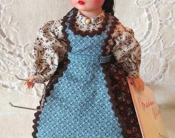 "Marilla 10"" Madame Alexander Vintage Anne of Green Gables Doll, Eye Glasses, Box & Wrist Tag"