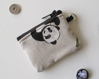 Coin Purse Keychain with panda/COINPURSE with Panda