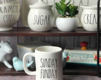 DECAL ONLY!Rae Dunn Inspired Week Day Vinyl Decal~Rae Dunn Decal~Farmhouse Decor~Home and Kitchen Decor~Home & Living~Rae Dunn Mug Decal