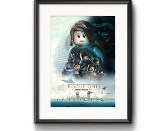 LEGO Rogue One: A Star Wars Story A4 Poster