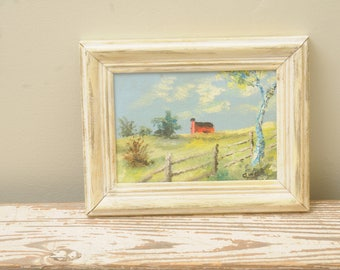 Original Red Barn Painting