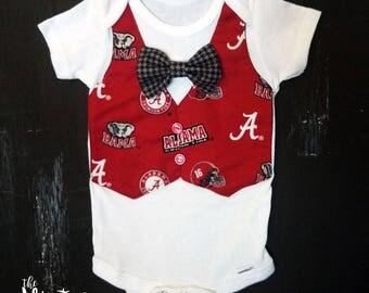 University of Alabama Baby Onesie, Alabama Outfit, Alabama Onesie, Alabama Baby Gift, Alabama Baby Shower, Alabama Football Gift