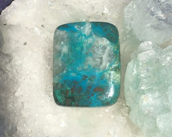 Chrysocolla Large  Rectangle Cabochon 23mm x 18mm