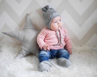 MADE TO ORDER/ Hand knitted baby hat/ Winter hat