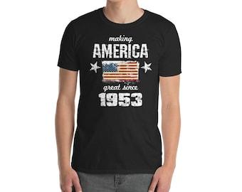 Making America great since 1953 T-Shirt, 65 years old, 65th birthday, custom gift, 50s shirt, Christmas gift, birthday gift, birthday shirt