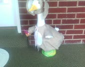 Goose Clothing -  Mr. Easter Bunny in Brown for Plastic or Concrete Lawn Goose