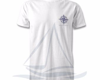 Nautical Edition Compass All Sizes T-Shirt, Harbour, Coastal Print, Nautical, Beach, Surf T-Shirt, By The Sea, All Sizes, Ocean Print