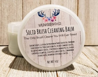 Solid Brush Cleanisng Balm - makeup brush cleaner