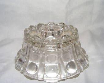 Vintage Short Clear Taper Candle Holder