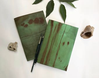 Rustic green notebook/ Traveler's notebook refill/ Midori journal refills/ Travelers journal/ Mint diary/ Vintage sketchbook/ Art notebook