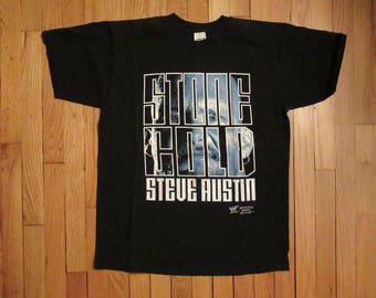 Vintage 1998 WWF Stone Cold Steve Austin Wrestling T-Shirt WCW hell yeah Large RARE