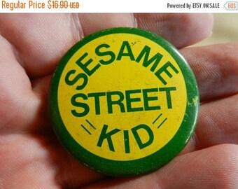 Summer Sale Vintage SESAME STREET KID Button