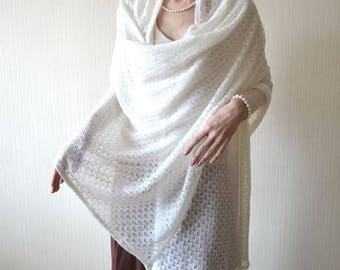 wedding shawl wrap wife gifts|for|her knit shawl White shawl gifts|for|mom Knit wrap Lace shawl Bridal shawl Womens shawl Bridesmaids shawl