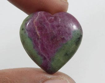 Ruby Zoisite cabochon 28.85Ct (23x22x6 mm) Heart Shape Natural gemstone  NS-6456