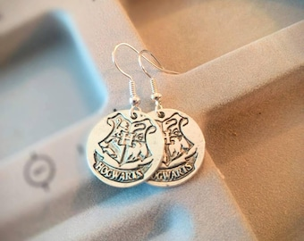 Harry Potter Earrings - Hogwarts Earrings - Hogwarts Crest - Ravenclaw - Hufflepuff- Gryffindor - Slytherin