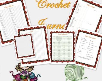 PDF CROCHET JOURNAL download crochet, craft planner