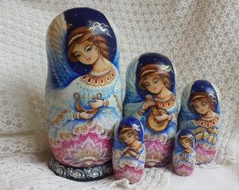 Matryoshka Matrioshka Angels Easter Angels Nesting dolls, Russian dolls, hand painted dolls, Christmas gift, Guardian angel, Easter
