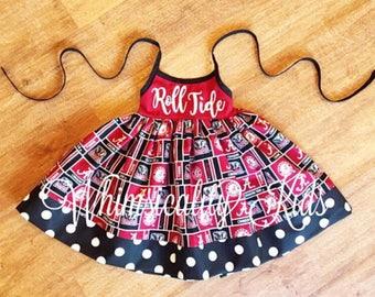 Alabama Team Dress - Bama Dress - Roll Tide Dress - Alabama Dress