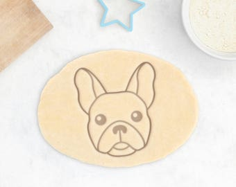 French Bulldog Cookie Cutter - Frenchie Cookie Cutter Custom French Bulldog Face Cookies Personalized French Bulldog Gift Custom Dog Treat