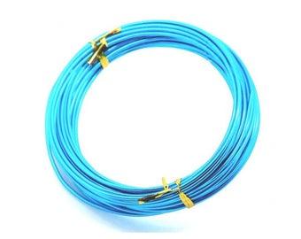 10 m 2mm blue aluminum wire
