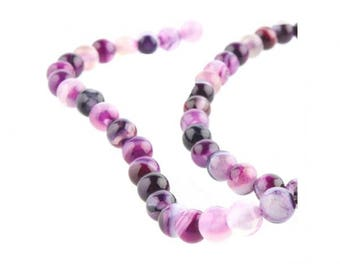 90 tone purple Agate beads 4mm round