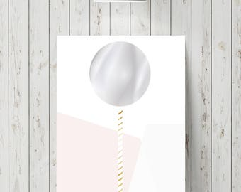 Abstract lollipop wall picture