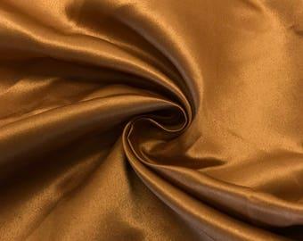 "Copper Matte Satin (Peau de Soie) Duchess Fabric Bridesmaid Dress 60"" Wide Sold BTY"